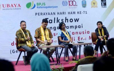 Talkshow bertajuk : Bunga Rampai Hak Asasi Manusia dan Tantangannya Di Era Milenial